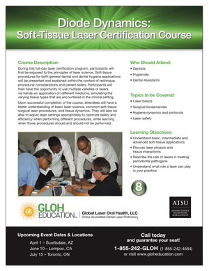 GLOH Hands-On Certification Course Flyer - Diode Dynamics